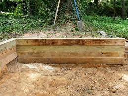 diy landscape timber retaining wall