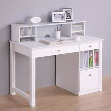 deluxe white wood computer desk with hutch modern desks and white desks with hutch