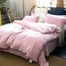 fluffy duvet cover solid pink super soft fluffy polyester faux 4 piece bedding inside duvet cover fluffy duvet cover