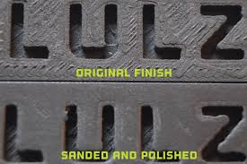 sandpaper grit for metal. ultra-fine grit sandpaper can be found at your local hobby shop and is readily available on-line. finish the job with a metal polishing compound. for o