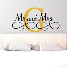 mr and mrs wall art s wall stickers custom name vinyl wall decals bedroom wall decor wall art personalized wall art decor wall art canvas es