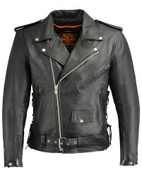 milwaukee leather men s classic side lace concealed carry motorcycle jacket black