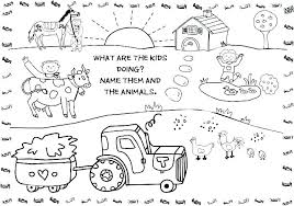 Colouring Pages Farm Animals Farm Animals Coloring Sheets Farm
