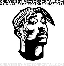 2pac Shakur Vector Portrait Freevectors