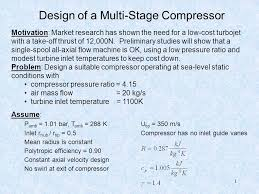 design of a multi stage compressor
