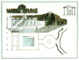 Underground Building Plan Section And Elevation Of An Underground Classical Style