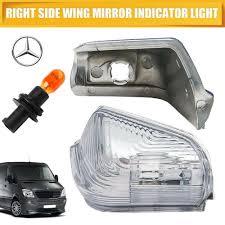 Mercedes Sprinter Side Light Bulb Turn Signal Light Side Mirror Indicator Pair W Bulbs For 06