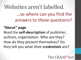 Craap Test The Craap Test For Evaluating Resources