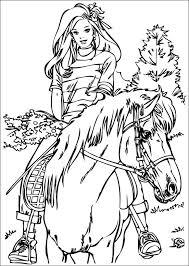 Un Cavallo E Barbie Disegno Da Colorare Per Bambini Disegni Da