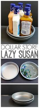 dollar lazy susan organizing idea an inexpensive way to organize your kitchen cabinets