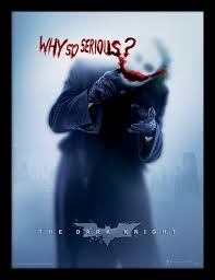 the dark knight why so serious framed poster