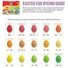 Food Coloring Chart For Eggs Highfiveholidays Com