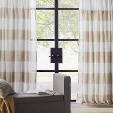 Striped Living Room Curtains Skyline Stripe Linen Rod Pocket Curtain Panel Reviews Joss Main