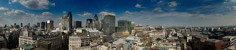 Panorama of London taken from the top of the Monument