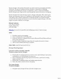 Autocad Drafter Resume Sample Elegant Interior Design Letter