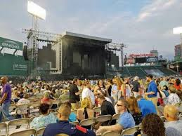 Fenway Park Concert Seating Chart With Seat Numbers Concert Photos At Fenway Park