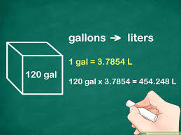 Liters Vs Gallons Chart 3 Ways To Calculate Volume In Litres Wikihow