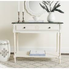 Safavieh Fairford 1 shelf White Console Table Free Shipping Today