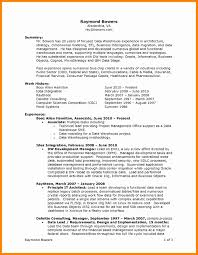 Resume Examples Business Intelligence Valid Resume For Internal