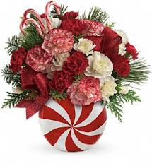 Teleflora's Peppermint Christmas Bouquet in Oak Hill WV, Bessie's Floral  Designs ...