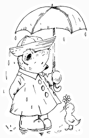 April Showers Bring May Flowers Coloring