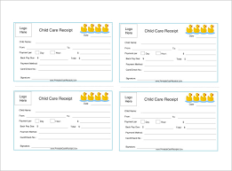 Child Care Receipt Child Care Invoice Template Chakrii