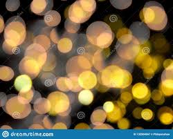 Yellow Round Light Bright Orange And Yellow Round Blurred Lights Abstract On A