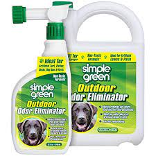 pet urine smells out of the backyard