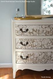 how to wallpaper furniture. How To Paint A Dresser - Thirft Store Furniture Makeover Use Stencils For Painted DIY Projects French Floral Damask By Wallpaper