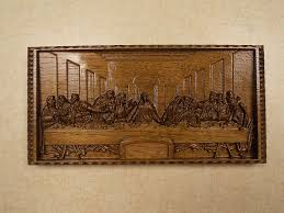 2017 leonardo da vinci the last supper wall decor cnc 3d wooden gifts intended