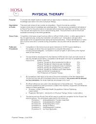 Sample Physical Therapy Resume Resume Online Builder