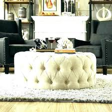 round leather tufted ottoman round tufted coffee table fashionable upholstered cocktail ottoman round tufted ottoman coffee