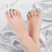 足爪用 貼るだけ1秒 華やかジェルネイル マジックプレス サンダル