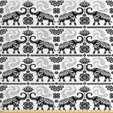 Bohemian Patterns Inspiration Amazon Ambesonne Elephant Fabric By The Yard Bohemian Tribal