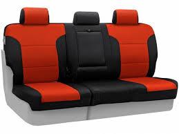 coverking second row inferno orange neoprene seat covers