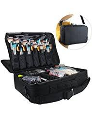 professional makeup train case cosmetic organizer make up artist box 2 layer large size with adjule