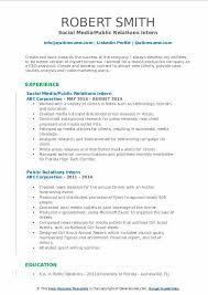 public relations resume example public relations intern resume samples qwikresume