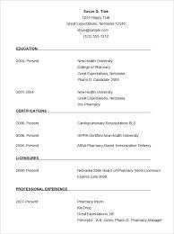 Cv Resume Format Download Pharmacist Cv Template