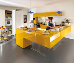 Yellow And Blue Kitchen Kitchen Blue Pendant Light White Wall Yellow Modern Kitchen