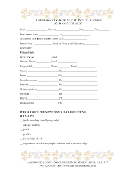 Wedding Planner Template Wedding Planner Contract Template Weddings Decorations Pinterest 11