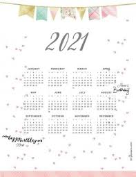 Be productive and get extra organized with this blank calendar of january, 2021. Free Printable 2021 Yearly Calendar At A Glance 101 Backgrounds