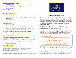 Apa Style Citation Guide