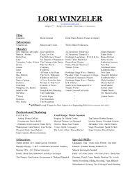 Film Resume Format Marketing Resume Sample Film Resume Template