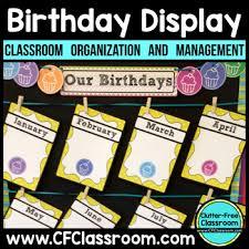 Birthday Display Birthday Chart Birthday Calendar