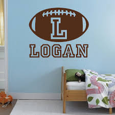 Small Picture Personalize Football Monogram Wall Decal Trendy Wall Designs