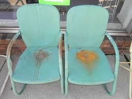 deco garden furniture. 2 vintage 50u0027s metal springer lawnpatio chairart decooutside garden furniture deco