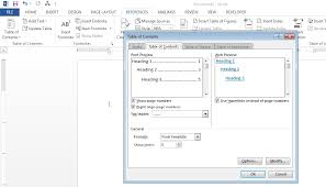 How To Add A Drop Down Box In Word How To Create A Table Of Contents In Word 2013 Teachucomp Inc