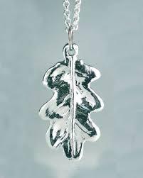 pewter oak leaf pendant