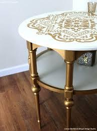 gold painted furnitureGold Wallpaper Wall Stencils  DIY Ideas for Metallic Home Decor