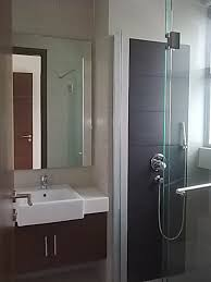 ideas extraordinary very small modern bathroom ideas with semi recessed rectangular basin for floating vanity unit